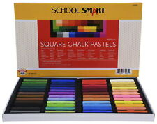 School Smart Square Chalk Pastels, Assorted Colors, Set of 48