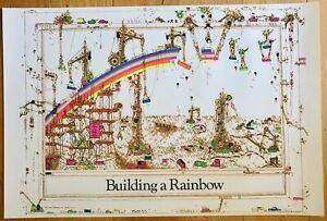 Building A Rainbow Vintage Style Poster 24 x 36