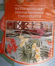 -> Tommy Bahama Home Floral PALM ORCHID Indoor Outdoor Tablecloth 60x102 NIP
