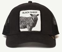 Goorin Animal Farm Trucker Snapback Baseball Hat Cap Black Sheep Be Reckless