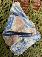 161.8g STUNNING NATURAL BLUE KYANITE MINERAL CRYSTAL SPECIMEN  Reiki  AUSTRIA