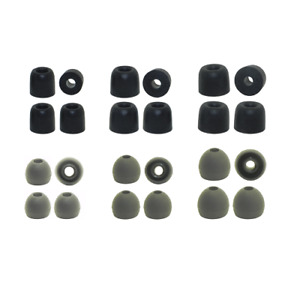 Replacement Earbud Tips Audio-Technica Silicone & Memory Foam Ear Tips 12 Pairs!