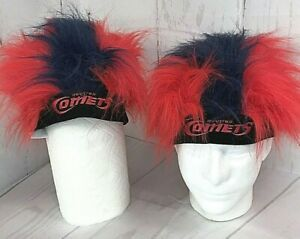 2 Rally Hats Houston Comets Red & Blue One Size Fits Most Have Not Been Worn 877
