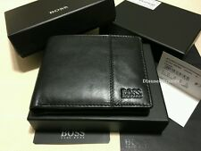 BRAND NEW DESIGNER HUGO BOSS 'CAENESTIR' BI FOLD BLACK LEATHER WALLET