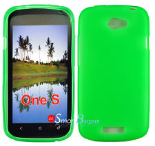 New Premium GREEN Soft Gel TPU Cover Case For HTC One S + Screen Protector