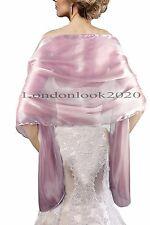 Evening Dress Lavender Silky Bridal Bridesmaid Wedding Prom Shawl Stole Wrap