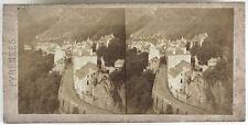 Saint-Sauveur Pyrénées Photo Stereo Vintage Albumine c1860