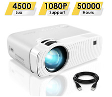 ELEPHAS Mini Projector, Portable Projector with 4500 Lumens and Full HD 1080p