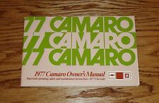 1977 Chevrolet Camaro Owners Operators Manual 77 Chevy