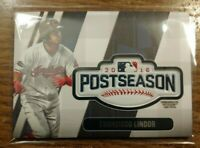 2018 Topps Update Francisco Lindor POSTSEASON LOGO PATCH CARD