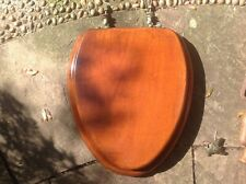 Vintage mahogany toilet seat with brass fittings