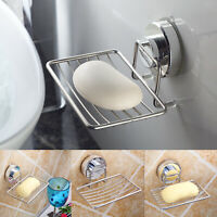 Stainless Steel Soap Box Dish Mounted Wall Holder Bathroom Shower Tray Storage
