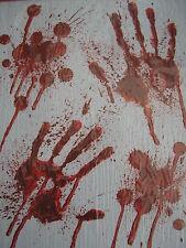 Halloween reuseable verre, miroir, fenêtre dégoulinant de sang mains