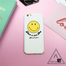 Cute Cartoon Smile Face Heart Cactus Hard Case Cover For iPhone X 5S 6S 7 8 Plus