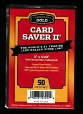 50 Ct Card Saver II Cardboard Gold PSA Graded Semi Rigid Holders BRAND NEW