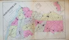 1905 GLOUCESTER COUNTY NEW JERSEY REPRODUCTION ATLAS MAP 24x36