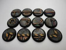 30mm lipped resin bases x12 Industrial Factory Sci-fi