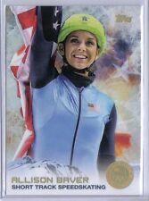 Allison Baver 2014 Topps Winter Olympics Golden Rainbow Foil #6 Speedskating