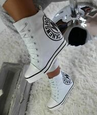 Sneakers  WEDGE HIGH TOP SNEAKERS TRAINERS WHITE