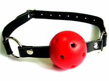 RED Breathable dribbler ball gag! Leather Adjustable, Sissy Maid,, Fetish,UK
