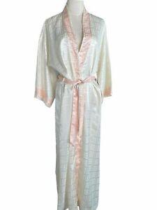 Vintage Christian Dior Robe Square Embossed Silky Ivory STUNNING RARE