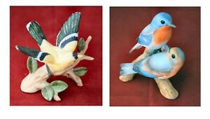 Small Bird Figurines - Andrea by Sadek Bluebird and Goldfinch