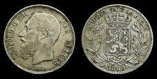 Belgium - 5 Francs 1869 Leopold II ~ silver