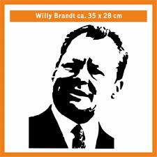 WILLY BRANDT Wandtatoo, ca. 35 x 28 cm, Hochleistungsfolie mit Montagepapier