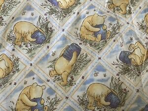 ~ Vintage Disney Classic Winnie The Pooh TWIN Fitted Sheet Honey Pots Bedding