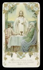 antico santino cromo-holy card ediz.AR n.442 EGO SUM PANIS VITAE