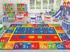 """Kids Play Mat Alphabet ABC Numbers Shapes Educational Large Area Rug 5' x 6'6"""""""