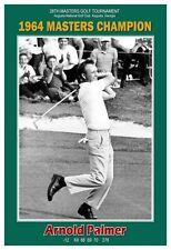 "Arnold Palmer 1964 Masters Golf Champion 13""x19"" Commemorative Poster"