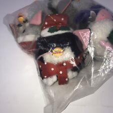 Furby Christmas Holiday Ornaments Set of 4 1999 Original Tiger Electronics NWT