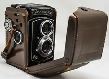 Yashicaflex Medium Format Film TLR Camera + Yashikor Lens &Original Leather Case