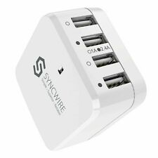 Syncwire FBASWAC01 34W 4-Port USB Wall Charger - White