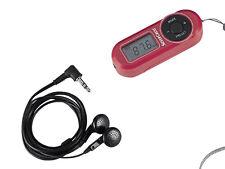 Silvercrest UKW Scan Radio Taschenradio LC-Display mit Kopfhörer Rot