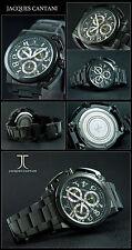 LUJO J. cantani Cronógrafo Reloj Negro ION CHAPEADO ESPECIAL KRONNEN TAPA