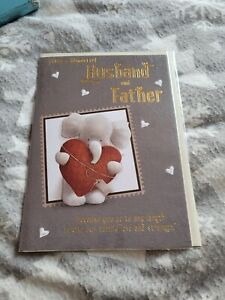 Husband and father anniversary Card BNIP - elephant