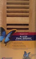 """Accord Select Oak Collection Solid Red Oak Floor Register with damper box 4""""x10"""""""
