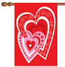 Toland Heart by Heart 28 x 40 Valentine Love House Flag