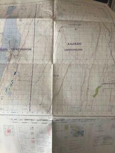 Kenya ( East Africa ) 4 large Maps , Early 1970s . Covering, Nguruman north, Olo