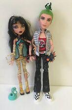 Monster High Deuce Gorgon & Cleo de Nile  2009 1st wave With Pets  EUC
