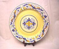 "PIER 1 MIRANDELA Plate or Round Platter 12 5/8"" Yellow Blue & Green Scrolls"