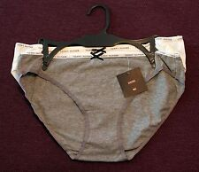NWT LOT OF 2 TOMMY HILFIGER WOMENS BIKINIS SEXY UNDERWEAR PANTIES WHITE/GRAY -