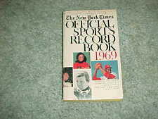 1969 New York Times Sports Record Book Bob Gibson St Louis Cardinals Cover