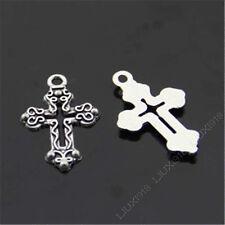 20x Retro Tibetan Silver Cross Pendant Charms Beads Accessories Wholesale B434P