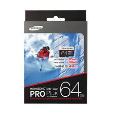 GENUINE SAMSUNG 64GB PRO PLUS MicroSD Micro SDXC Class10 4K UHD 95MB/s