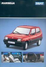 Seat Marbella Prospekt 6 90 1 Bl brochure 1990 Auto PKWs Autoprospekt Broschüre