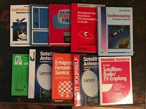 diverse Hand- Sachbücher Satelliten & TV Technik  - teils gebunden