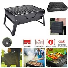 BBQ Barbecue Grill Folding Portable Charcoal Stove Camping Garden Outdoor USA